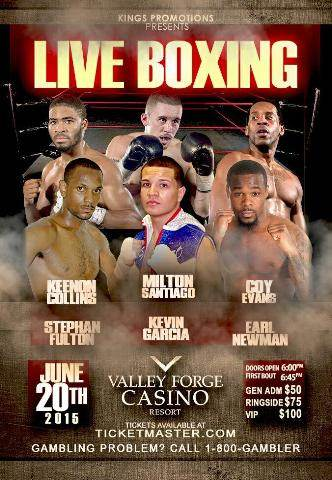 Upcoming Fight – Milton Santiago – June 20th
